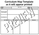 Common Core Standards Aligned Curriculum Map Templates Any Subject or Grade