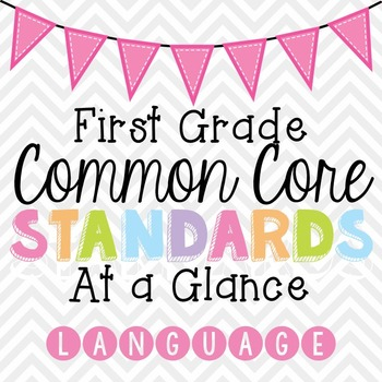 Common Core Standards Cheat Sheets - First Grade Language