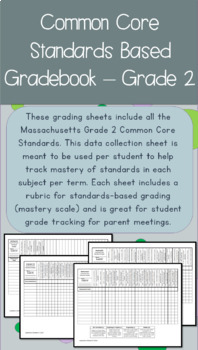 Common Core Standards Based Gradebook Grade 2