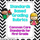 Common Core Standards Based Rubrics for First Grade ELA and Math