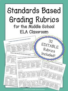 Standards-Based Rubrics for ALL ELA Standards! (32 rubrics included!)