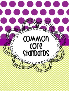 Common Core Standards Binder Cover
