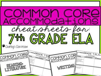 Common Core Standards *Cheat Sheet* {ELA 7}