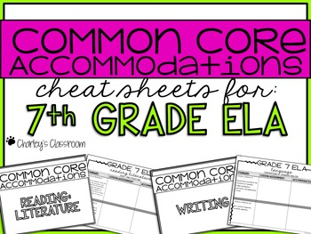 Common Core Standards *Cheat Sheet* {ELA 7}