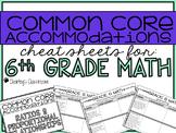 Common Core Standards *Cheat Sheet* {Math 6}