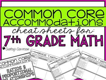 Common Core Standards *Cheat Sheet* {Math 7}