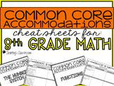 Common Core Standards *Cheat Sheet* {Math 8}