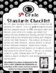 Common Core Checklist 5th Grade BUNDLE, All Subjects!