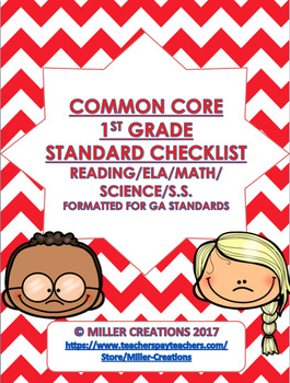 Common Core Standards Checklist- First Grade- ALL SUBJECTS