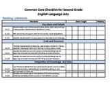 Common Core Standards Checklist Second Grade - ELA