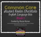 Common Core Standards Checklist Student Roster Editable Form Gr 5
