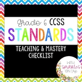 Common Core Standards Checklist for Grade 6