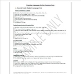 Common Core Standards Checklists Easy to Understand Everyday Language 2nd Grade