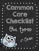 Common Core Standards Checklists K-6 BUNDLE