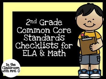 Common Core Standards Checklists for 2nd Grade