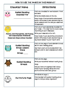 Common Core Standards Checklists for Fifth Grade
