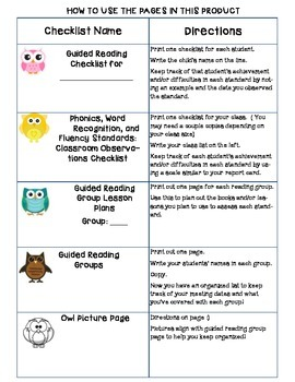 Common Core Standards Checklists for First Grade