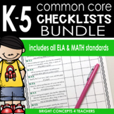 Common Core Standards Checklists: Kindergarten-Fifth Grade
