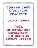 Common Core L.5.2c: Commas (Tags, Introductions, Direct Address)