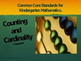 Common Core Standards; Counting and Cardinality Kindergarten
