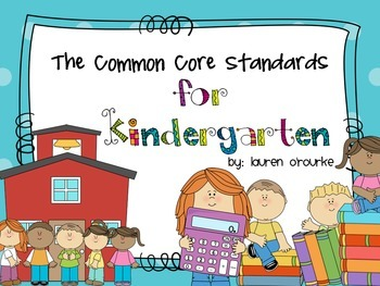 Common Core Standards Display (Kindergarten)