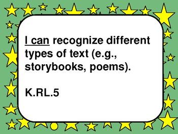 Common Core Standards - ELA Kindergarten - Large/Green
