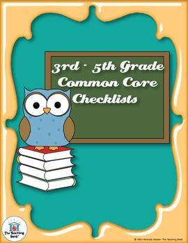 Common Core Standards ELA & Math Checklist for 3rd - 5th Grade