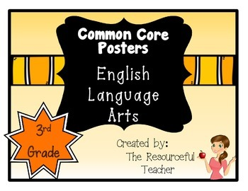 Common Core Standards ELA Posters 3rd Grade