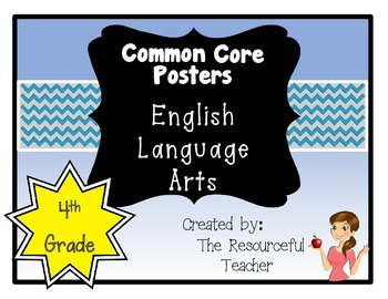 Common Core Standards ELA Posters 4th Grade