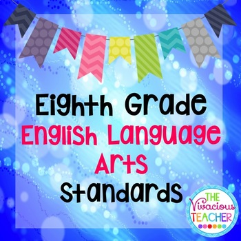 Common Core Standards Posters Eighth Grade Reading