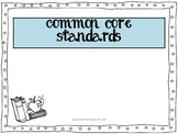 Common Core Standards FREEBIE poster for grades K-12