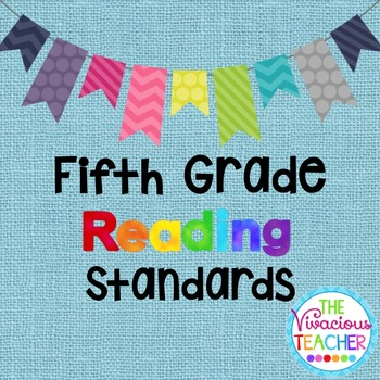 Common Core Standards Posters Fifth Grade Reading