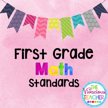 Common Core Standards Posters First Grade Math