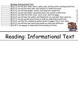 Common Core Standards FlipBook for Kindergarten