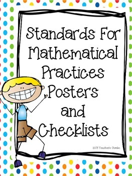 Common Core Standards For Mathematical Practices Posters and Checklists