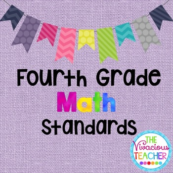 Common Core Standards Posters Fourth Grade Math