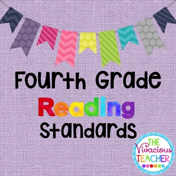 Common Core Standards Posters Fourth Grade Reading