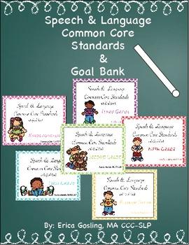 SLP Common Core Standards Goal Bank Bundle- Elementary Edi