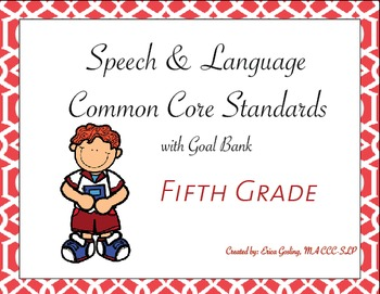 Common Core Standards Goal Bank {Fifth Grade}