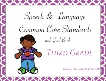 Common Core Standards Goal Bank {Third Grade}