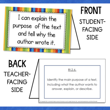 Grade 2 ELA Common Core I Can Statements and Learning Targets