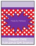 Common Core Standards Grade 4 - Science
