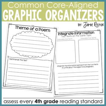 Common Core Standards Graphic Organizers for Reading 4th Grade
