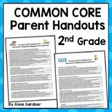 Common Core Standards Parent Handout: Second Grade (Ideal for Meet the Teacher)