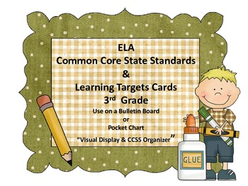 """Common Core Standards & """"I CAN.."""" Cards-3rd Grade"""