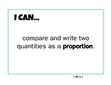 Common Core Standards I Can Statements 7th Grade Math