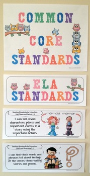 """First Grade Common Core """"I Can Statements"""" - ELA ONLY"""