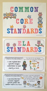 "Second Grade Common Core ""I Can Statements"" - ELA ONLY"