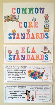 "Third Grade Common Core Standards ""I Can Statements"" - ELA ONLY"