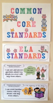 "Kindergarten Common Core ""I Can Statements"" - ELA ONLY"